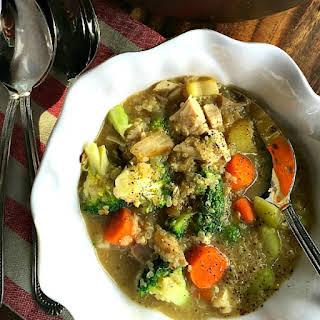 Broccoli Chicken Quinoa Soup.