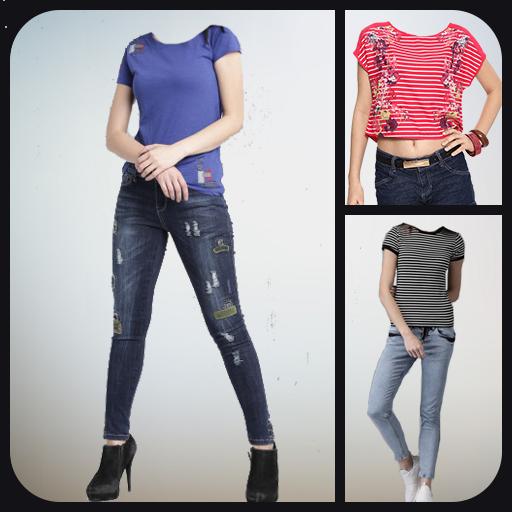 Women Jeans Photo Suit