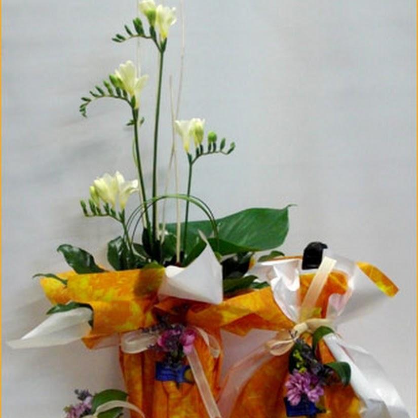 envoltorio de regalo especial para flores