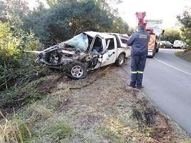 The motorist jumped out of the moving vehicle, which overturned after landing in a gorge. Dagga valued at half-a-million rand was found inside the bakkie.