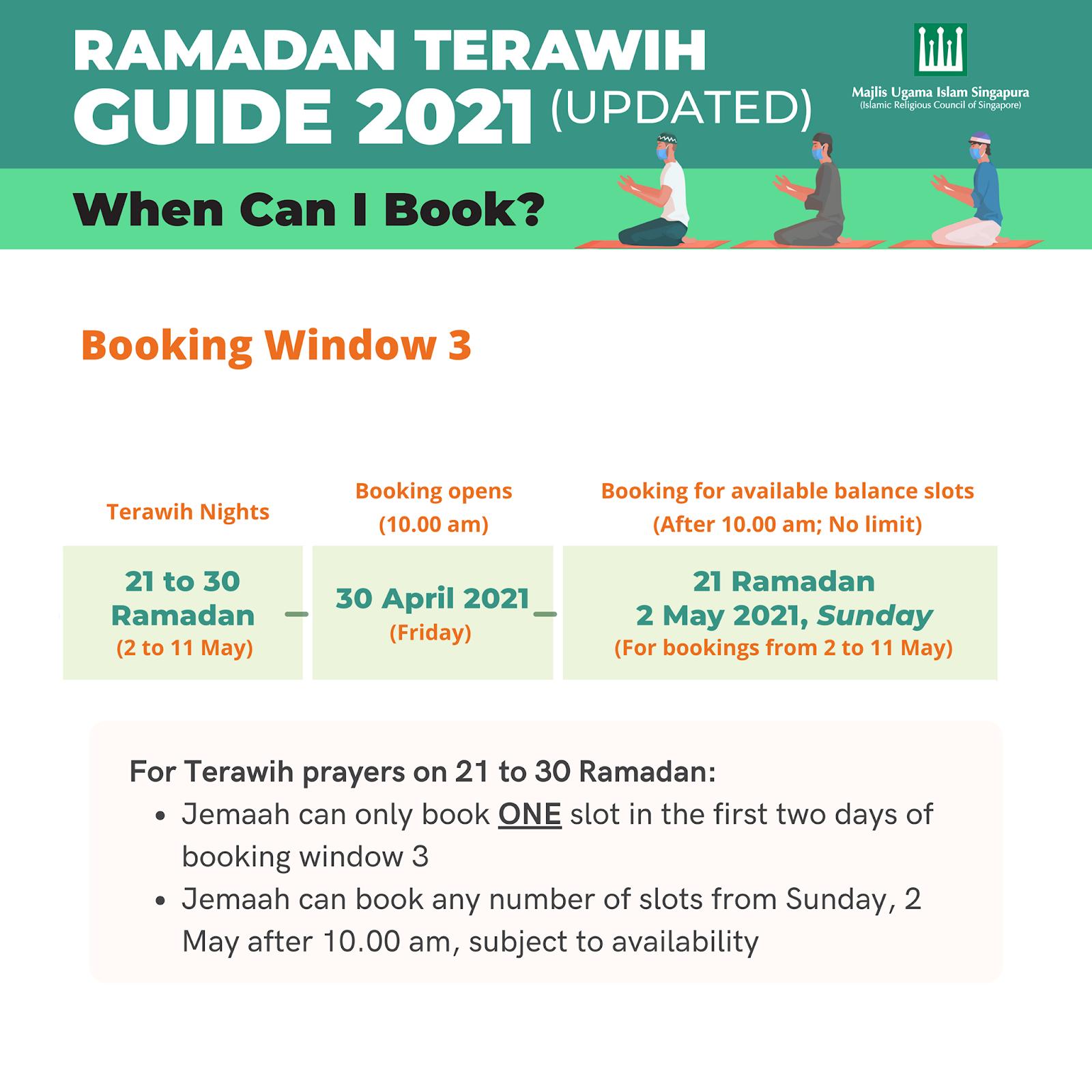 terawih booking 2021 singapore