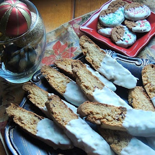 White Chocolate Cherry Almond Biscotti