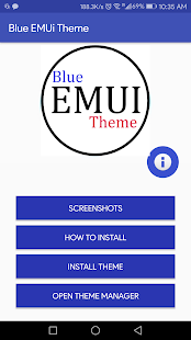 Blue EMUi Theme for Huawe! - náhled