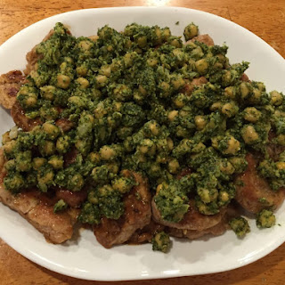 Pork Scallopini With Dilly Chickpeas.