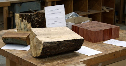 Photo: Silent Auction -- that's some nice bubinga blocks