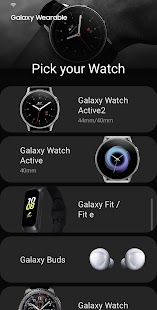 Galaxy Wearable (Samsung Gear) Screenshot