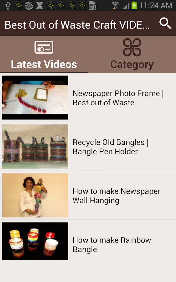 Best out of waste craft videos android apps on google play for Waste out of best models
