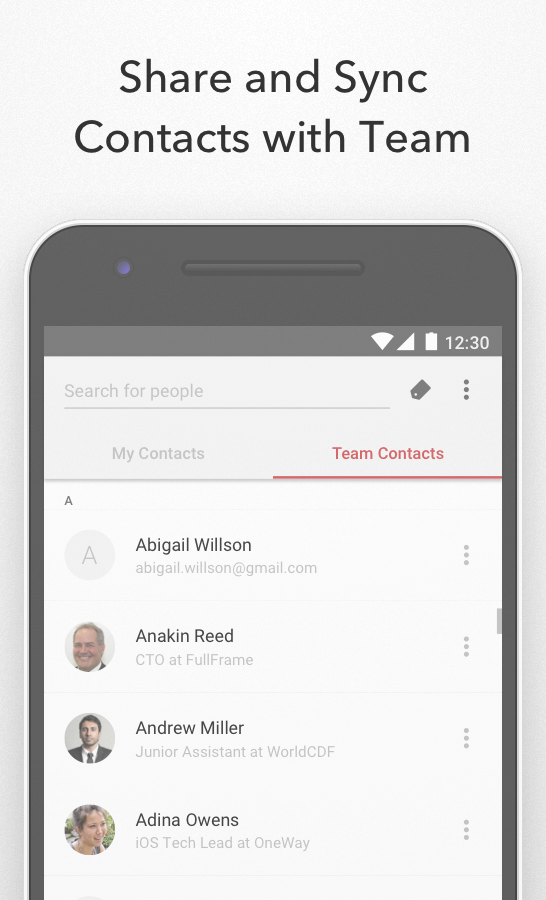 FullContact Address Book- screenshot