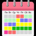 Woman calendar icon