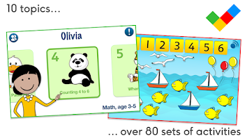 Screenshot of Math for children, age 3-5