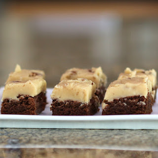 Semi Homemade Brownies With Penuche Frosting.
