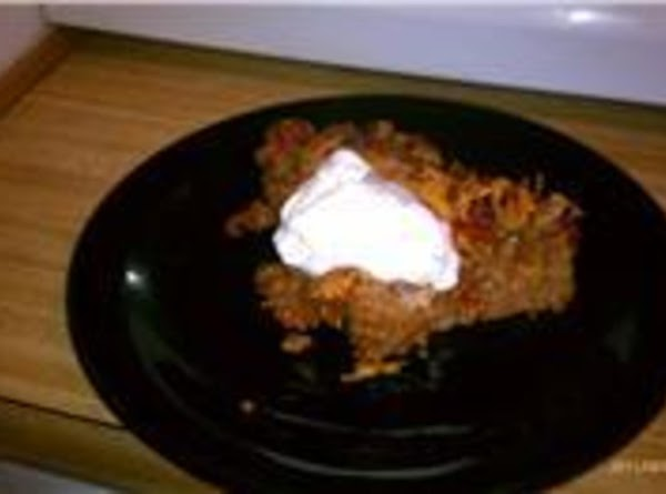 Serve with extra salsa, sour cream and mexican chips.