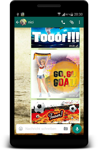 Soccer Goal Sticker for Chat