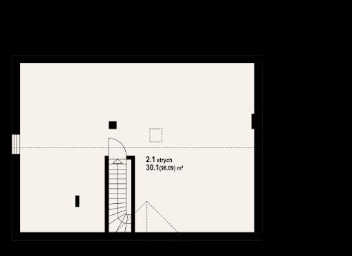 Adamówka gk1 - Rzut poddasza