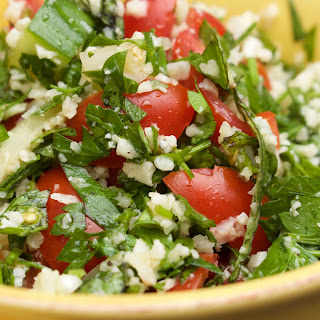 This Tabbouleh Salad With Cauliflower Rice Is Heaven In A Bowl.