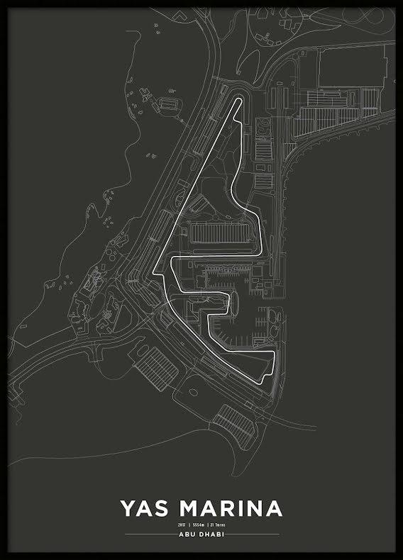 Poster, Yas Marina Circuit Formula 1 Print