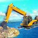 Amphibious Excavator Crane: Construction Simulator icon