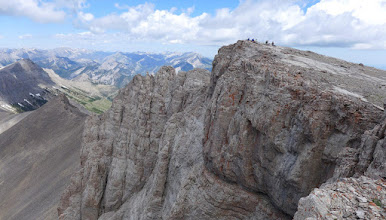 Photo: The 2015 group on the summit, enjoying lunch, feasting on views.
