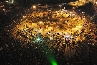 Photo: Another view of Tahrir Square...