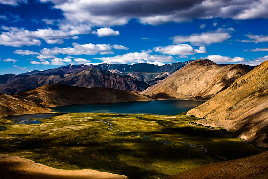 A lake in Ladakh by Peter Wolledge - Landscapes Mountains & Hills