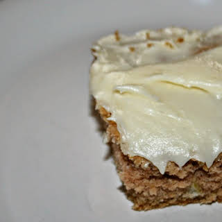 Apple Brownies with Cream Cheese Frosting.