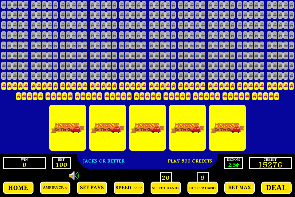 100 hundred hands video poker