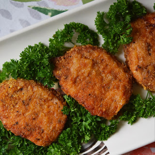 Baked BBQ Potato Chip Crusted Pork Chops Recipe