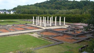 Photo: Site of Roman villa in Echternach, Luxembourg, 2007.