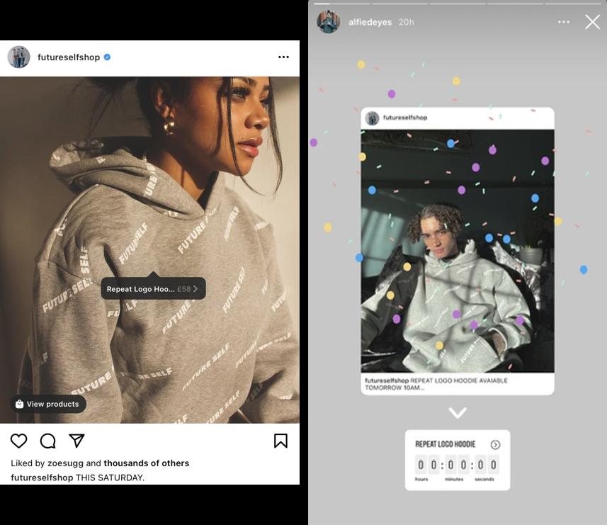 Instagram countdown content