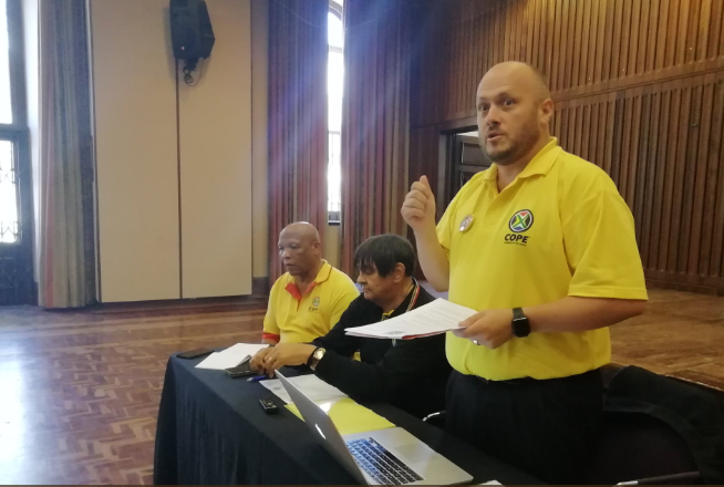 Anton Peters is the COPE's candidate for the ward 2 by-election.