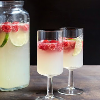 Raspberry-Lime Champagne Punch.