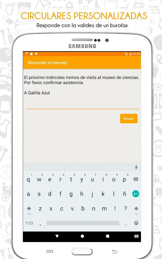 TokApp School: captura de pantalla