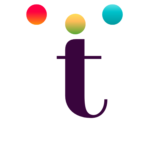 colour dots single t logo