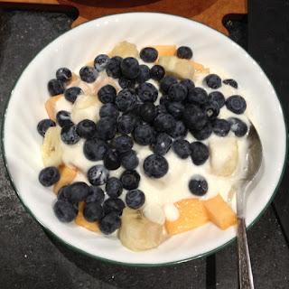 Fresh Fruit Salad with Honey Yogurt Sauce