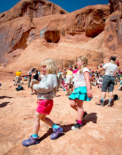 Photo: Ori and her friend during the Passover Seder and Retreat in Moab, Utah.