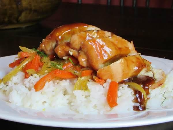 Grilled Chicken With  Tamarind-orange Glaze