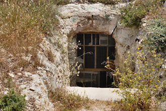 Photo: As it is not allowed to fam. Nassar to build whatever new building on the hill, they create new rooms by excavating caves. But these to are forbidden.