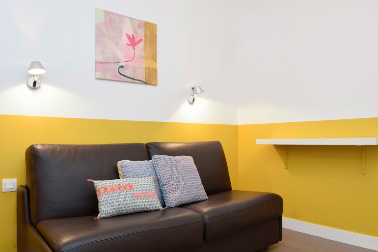 Spacious living area at Rue de Montorgueil Serviced Apartment, Opera