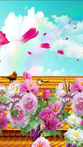 Peony Bloom HD Live Wallpaper