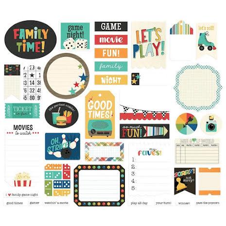 Simple Stories Journal Bits Die-Cuts 39/Pkg - Family Fun