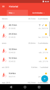 Runtastic Road Bike PRO: miniatura de captura de pantalla