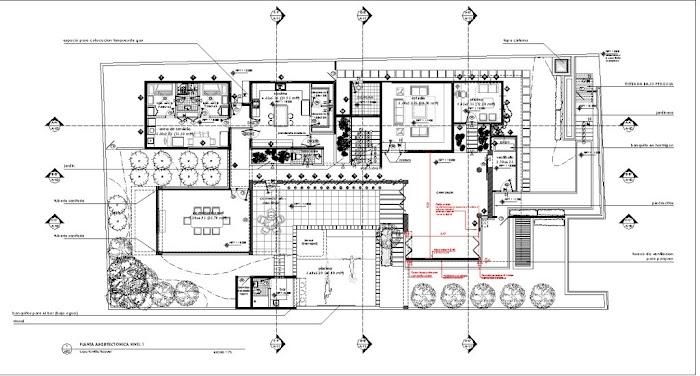 Casa f pons arquitectos tecno haus for Planos de chalets modernos