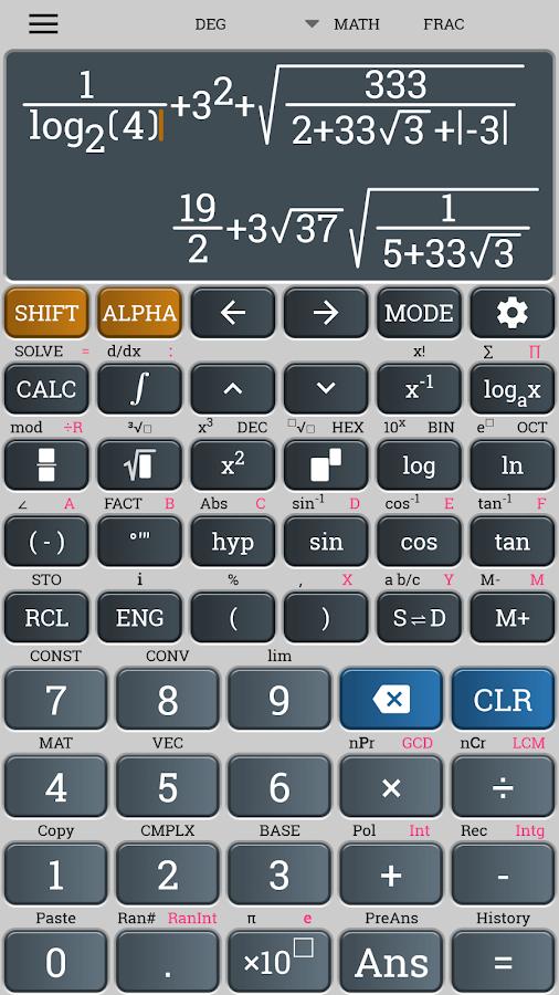 Download realcalc scientific calculator 1. 7. 3 (free) for android.