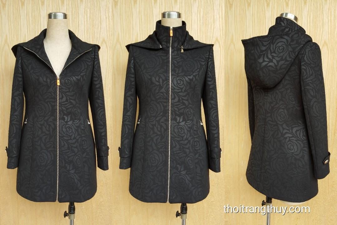 Áo khoác nữ có mũ cài khóa cho mùa thu đông V489 Hải Phòng
