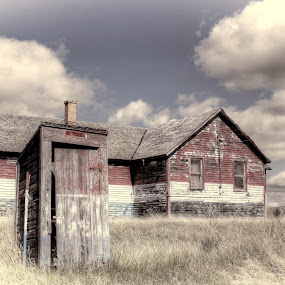 Hodges Montana  by Tracy Lynn Hart - Buildings & Architecture Decaying & Abandoned ( montana, travel, place )