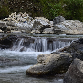 Hungdi Khola by Ganesh Shahi - Landscapes Waterscapes ( water, hydro power, ganesh, photography, nepal )