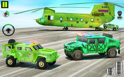 US Army Transporter Plane - Car Transporter Games apktram screenshots 7