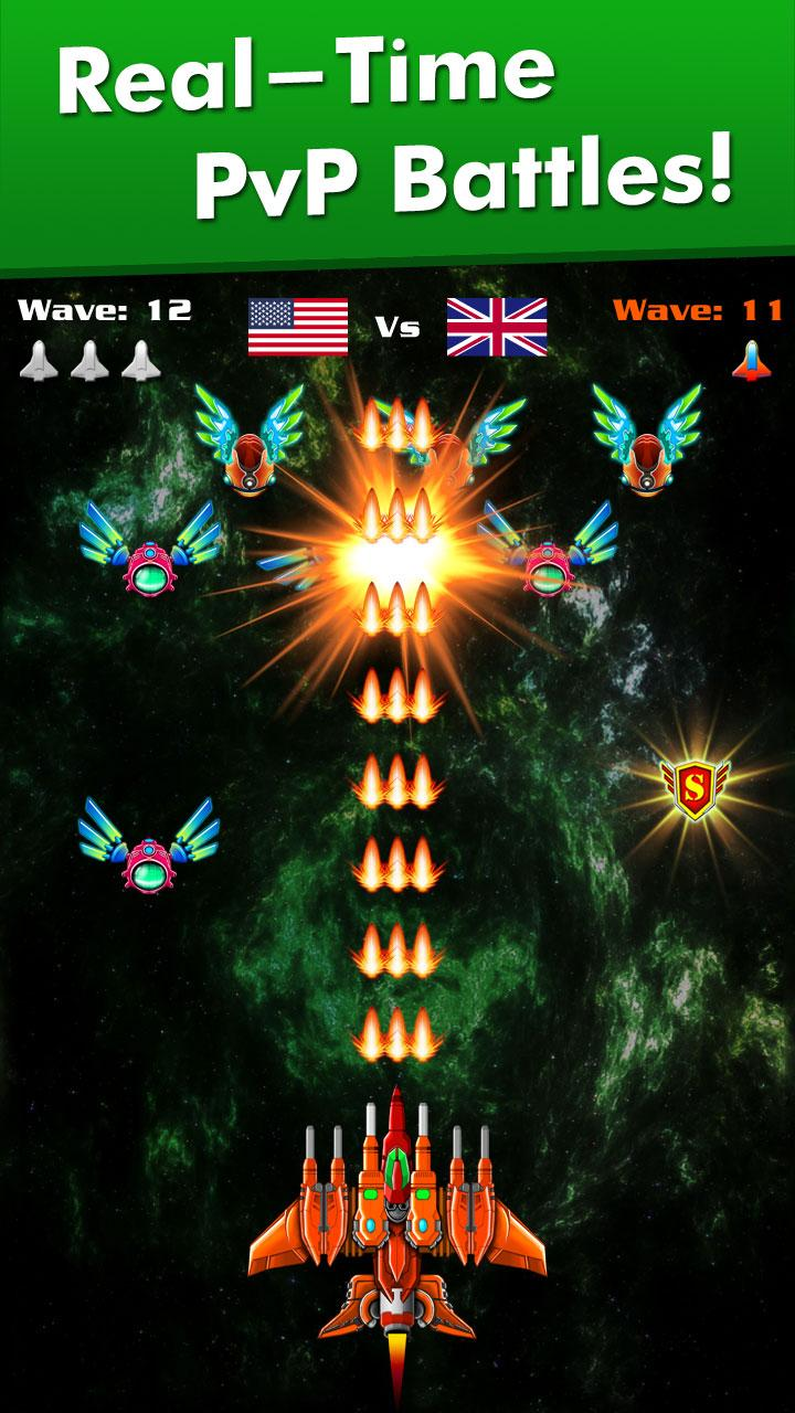 Galaxy Attack: Alien Shooter (MOD, Unlimited Money, crystals) 2