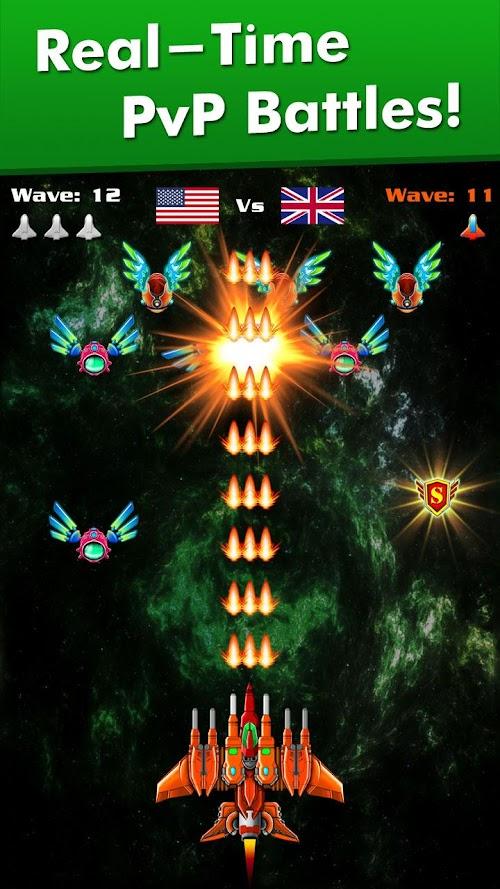 Screenshot 2 Galaxy Attack: Alien Shooter 6.53 APK MOD
