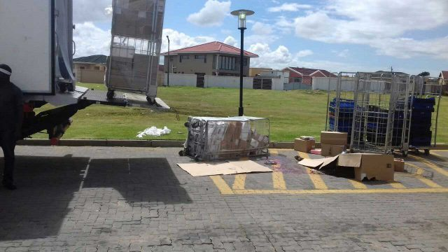 A boy of 13 was killed when a load of frozen chicken fell from a truck at Amalinda KFC yesterday.